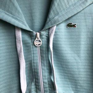 Lacoste Tops - Lacoste • Zip Up Short Sleeve Hoodie